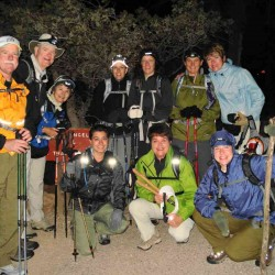 """These intrepid hikers got their friends and family to sponsor their """"Rim to  Rim"""" hike in the Grand Canyon."""