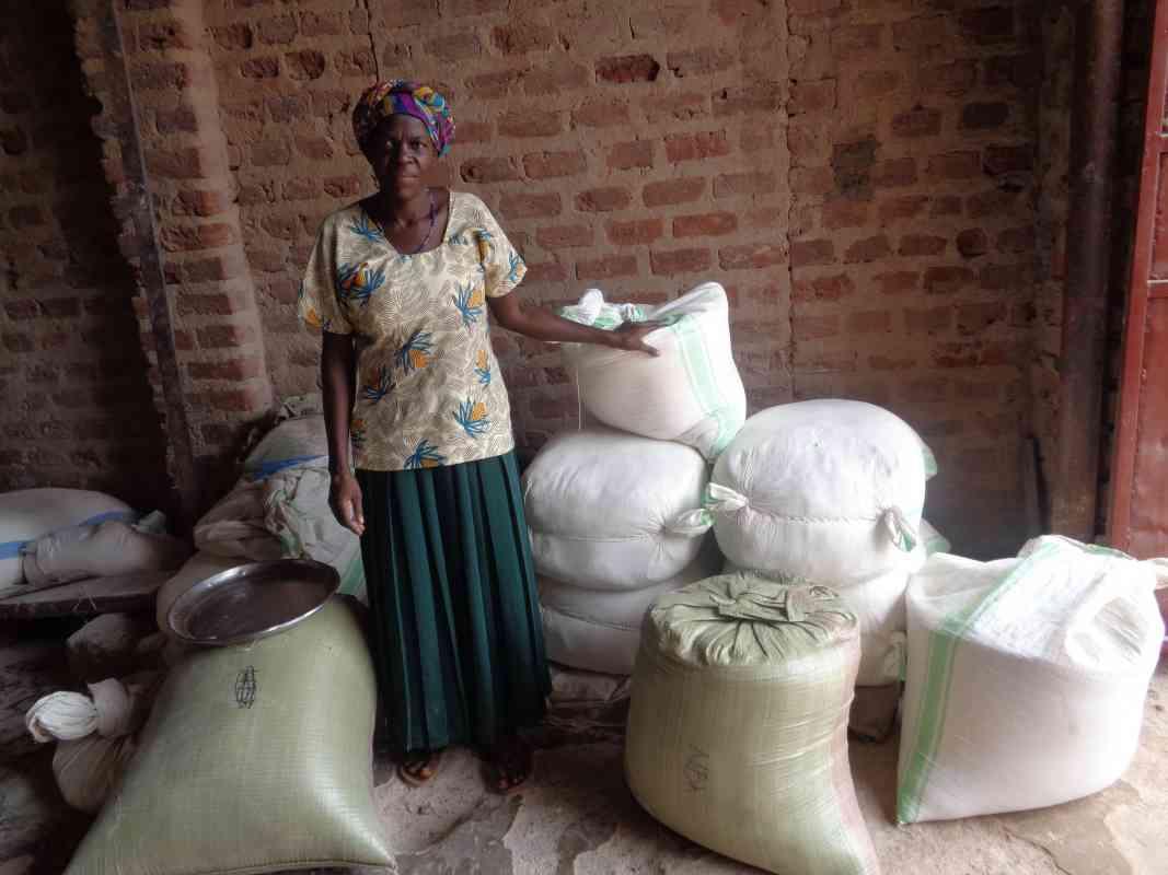 Judith with her sacks of grain