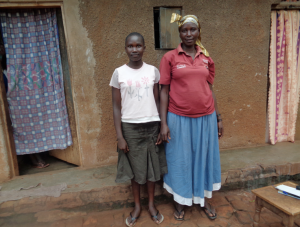 Akello Grace (Hera Group member) and sponsored student Igregweri Dinah - Tororo, Uganda