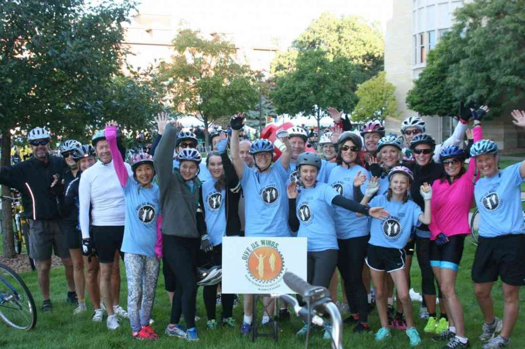 Give Us Wings supporters biked in the 2015 St. Paul Classic Bike Tour and raised over $10,000 for Give Us Wings!
