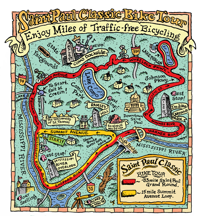 Route Map for st paul classic
